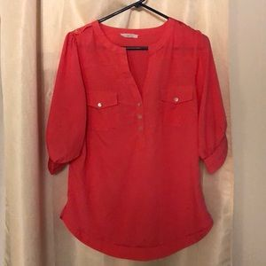 Button up coral shirt